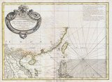 Carte Hydro-Geo-Graphique des Indes Orientales en deca et au dela du Gange avec leur Archipel Dressee et assujettie aux Observations Astronomiques, by cartographer Rigobert Bonne (1727-1795).<br/><br/>  Bonne's 1771 map of Tonkin and the South China Sea / East Sea is important and controversial as it clearly shows Hainan Island (yellow outline) belonging to China and, more significantly, the Paracel Islands - currently disputed between China and Vietnam but occupied by the former - in green, as Vietnamese territory. The disputed Spratlys are not shown on the map.<br/><br/>  In 1771 Tonkin was ruled by the Trinh Lords (1545-1787), specifically by the 10th Trinh Lord, Trịnh Sâm (Ruled 1767 - 1782 under the title Tinh Do Vương).